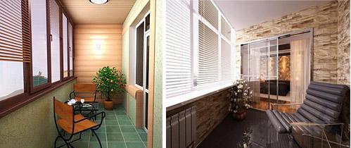 Как выполняется внутренняя обшивка балкона?